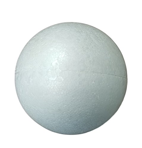 Smooth White Craft Foam Polystyrene Round Balls by MT Products (8 Inch)(2 Balls) ()