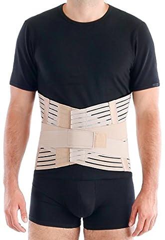 TOROS-GROUP Breathable Lumbar Support Brace Belt - Lower Back Lumbo-Sacral Compression - Medium, Waist/Belly 38