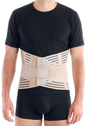 TOROS-GROUP Breathable Lumbar Support Brace Belt - Lower Back Lumbo-Sacral Compression - Medium, Waist/Belly 38
