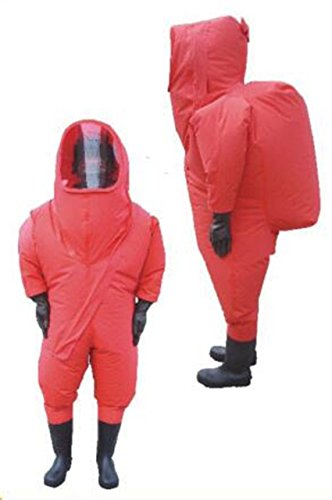 Heavy Type Fully Enclosed Chemical Protective Suit Anti-liquid-ammonia Suit (L) by MXBAOHENG