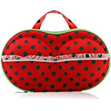 Foolzy Polyester and Nylon Red Travel Bra Bag Organizer