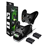 Xbox One Controller Charger with 2x 1200 Rechargeable Battery Packs, bebe Xbox One Controller Charging Station with LED Indicator, Xbox One Controller Charger for Xbox one/ One X/ One S Controller