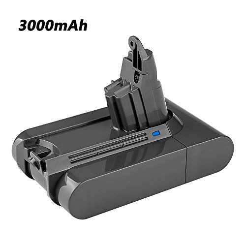 Upgraded 3000mAh V6 Replacement for Dyson 21.6V Lithium Ion Battery DC58 DC59 DC61 DC62 595 650 770 880 Animal DC72 Series Handheld Replacement Battery