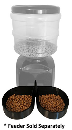 Two-Bowl Attachment for 5.5L Automatic Pet Feeder - compatible with Pyrus/ICOCO/Fitigier/eTTgear/OUTAD and more!