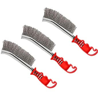 12 Pcs Stainless Steel Welding 3 Row 13 3//4/'/' Long Handle Scratch Wire Brush