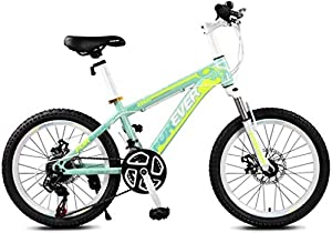 TANGIST Kids' Bikes Children's Mountain Bike 20 Inch Speed Male and Female Bicycle Youth Bicycle Summer Mountaineering Bicycle Adjustable Speed (Color : Green, Size : 20inch)