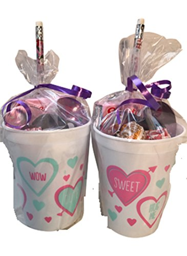 Conversation Heart Pencils (Valentine's Day Pre-Filled Favor Gift Bags! Valentines Day Party Favors & Valentines Day Gifts! Set of 2)
