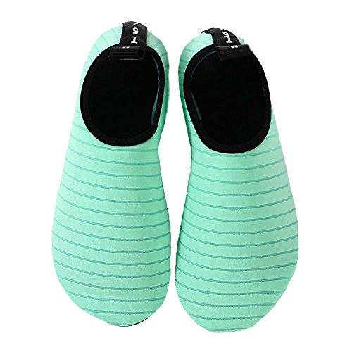 EQUICK Frauen Wasser Schuhe Quick-Dry Verschnaufpause Sport Haut Schuhe Barfuß Anti-Rutsch-Multifunktionssocken Yoga Übung Grün