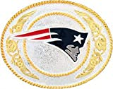 New England Patriots Gold and Silver Toned NFL Logo Buckle