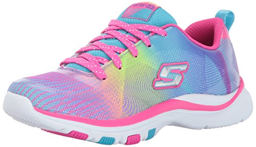 Skechers Kids Girls' Trainer Lite-Color Dance Sneaker,Multi, 10.5 M US Little Kid (Girls Trainers Childrens)