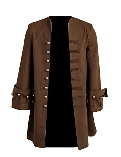 Joyshop Mens' Halloween Pirate Cosplay Costume Coat Adult Halloween Jacket Costume,XX-Large by Joyshop