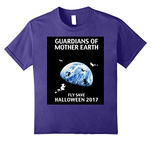 Mother Earth Halloween Costume (Kids Halloween T Shirt by Lomapatta - Meet-us-at-mother-earth- 12 Purple)