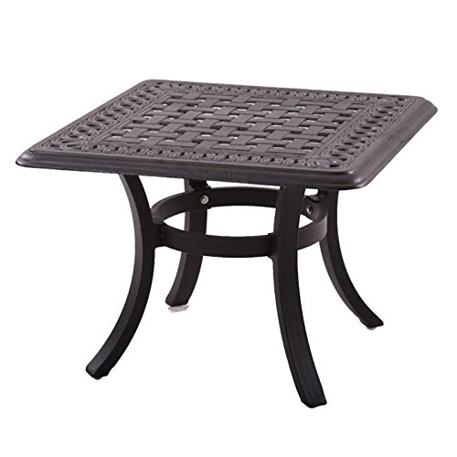 Cheap Darlee Series 88 Patio 24″ Square End Table in Antique Bronze