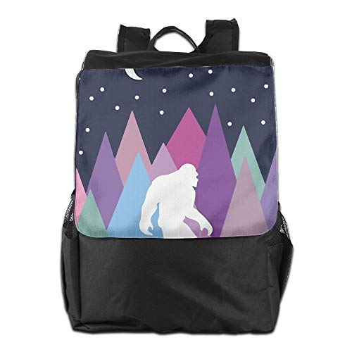 Louise Morrison Mutli Color Forest Bigfoot Sasquatch Women Men Laptop Casual Business Travel Backpack College School - Apparel Mutli