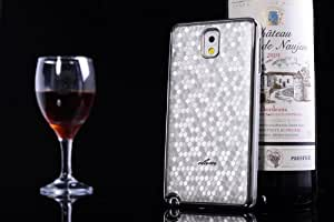 Funny Home General Series Leather Case Cover for the Samsung Note3,unique Armor Leather Cover Case for Samsung Note3 (Silver)