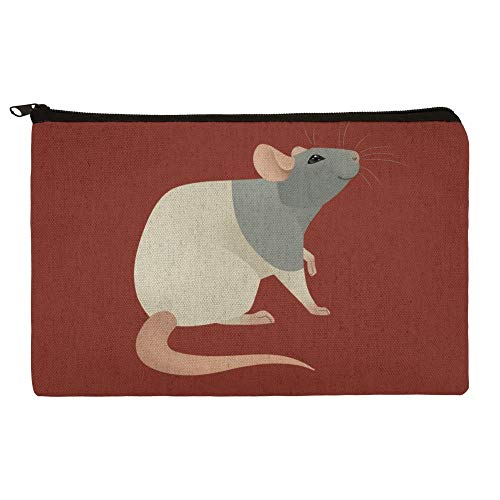 Hooded Rat Pencil Pen Organizer Zipper Pouch Case