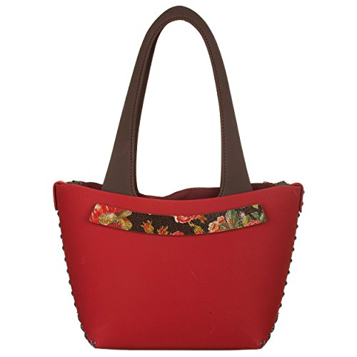 VialeScarpe BCH-SHABOTMU_UNI - Bolso al hombro para mujer Rojo rojo talla unica Rojo