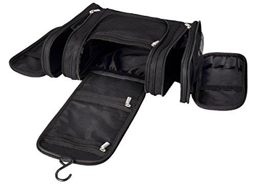Hanging Toiletry Bag Premium Large Cosmetic, Shaving, Makeup Travel Organizer Mr.Sleek (Skull Makeup Kit)