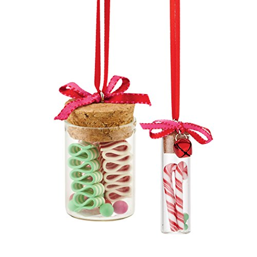 Department 56 Mrs. Claus Sweet Shoppe Candy Jar Ornaments, 3 inch (Set of ()