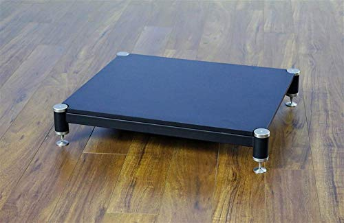 BL Series Audio Amplifier Stand (3 in. w Black Shelf and Silver Spike)