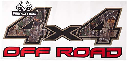 (Realtree Camo Graphics RT-4X4-XT Xtra 4 x 4 4X4 Off Road Contour-Cut Decal in Realtree Extra Size 6.25in x 13.25in Camo Graphics Wrap )