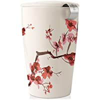 Tea Forte KATI Single Cup Loose Tea Brewing System, Ceramic Cup