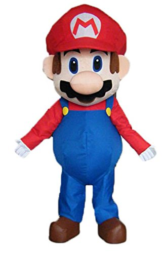 Deluxe Adult Size Mario Bro Mascot Costume for Birthday Party Cartoon Character Mascot Costumes for Sale -