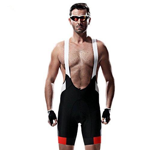 (Santic Men's Pro 4D Padded Cycling Bib Short Black/White)