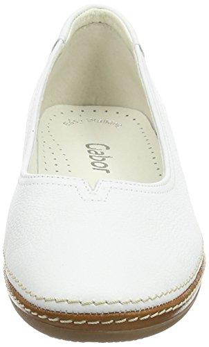 Gabor Change- Bailarinas para mujer Blanco (white Leather)