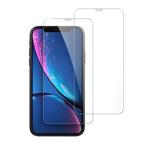 iPhone XR Screen Protector, Tempered Glass 3D Clear Screen Film 9 HD Hardness Gorilla Glass High Definition Bubble Free Scratch Drop Resistant for iPhone XR 6.1 inch 2018 Feitenn - ()