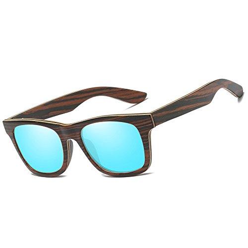 KITHDIA Brand Men & Women Polarized Wood Sunglasses Retro Bamboo Sunglasses - Brand X Eyewear