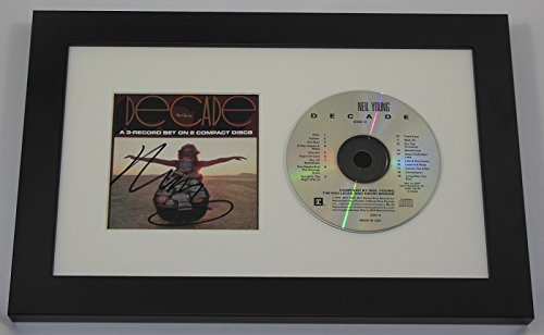 Neil Young Decade Hand Signed Autographed Music Cd Compact Disc Framed Display Loa