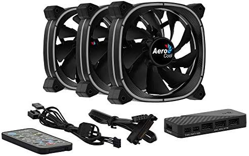Aerocool ASTRO, ventilador PC 12 cm, 18 LED, control remoto RGB, antivibración: Amazon.es: Informática