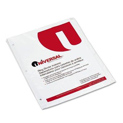 Write-On/Erasable Indexes w/White Tabs, 5-Tab, Letter, White, 5/Set, Total 288 ST, Sold as 1 Carton
