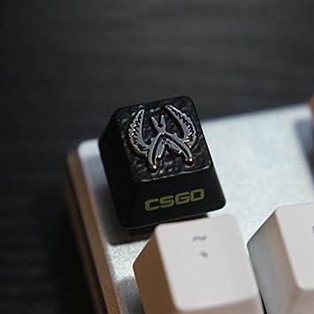 All Decor Gaming Keycaps - Llavero con Grabado a Mano de Aluminio y Resina para Teclado mecánico (interruptores de Cereza) Negro CSGO: Amazon.es: ...