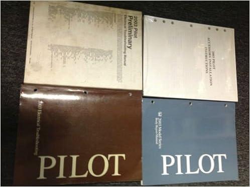 2003 honda pilot suv truck electrical wiring + body repair service manual  set +: honda: amazon com: books