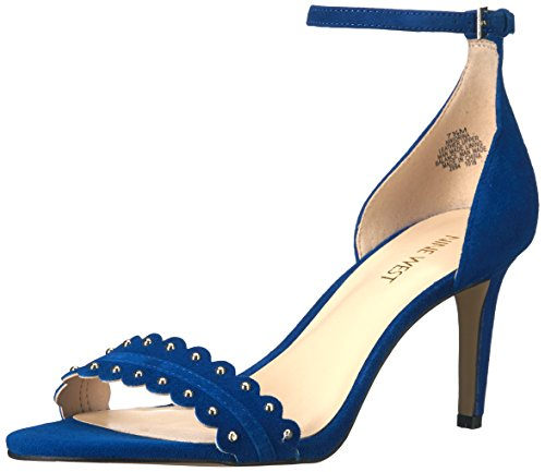 West Sandal Women's Nine Idrina Dress Blue Suede qROdaAd