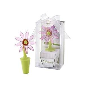 Blooming Flower Bottle Stopper in Whimsical Window Gift Box
