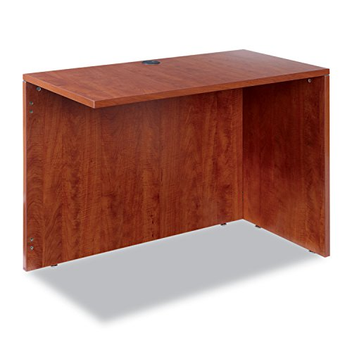 Alera VA354224MC Valencia Series Reversible Return/Bridge Shell, 42w x 23-5/8d, Medium Cherry by Alera