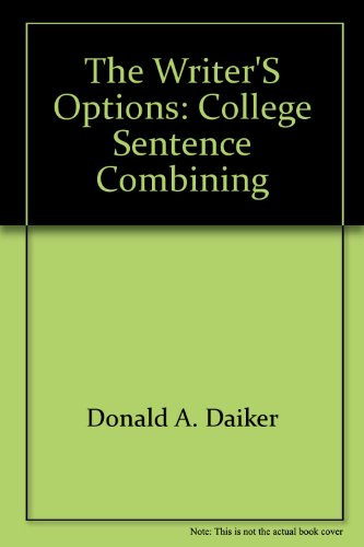 The writer's options: College sentence combining