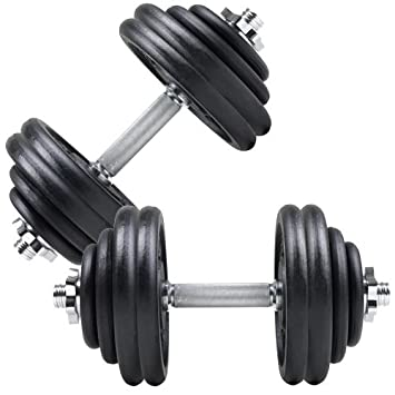 ScSports - Juego de mancuernas, 60 kg, acero fundido: Amazon.es: Deportes y aire libre