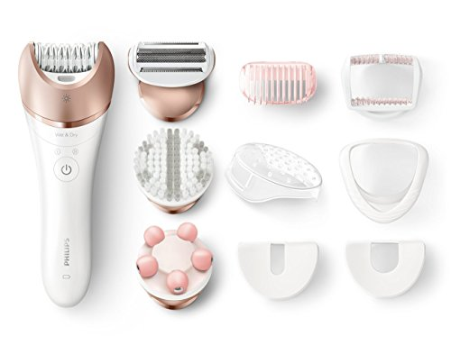 Philips CORDLESS WET/DRY Epilator with EXTRA WIDE Epilation Head and Body Massager Included by Philips