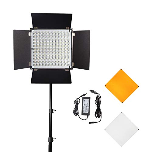 Professional LED Dimmable Video Panel Lighting Light 36W CRI 96+ Wireless Control for Studio YouTube Product Photography Video Shooting, Use (600PCS) lamp Beads Metal Slim Body with U-Frame PIXEL K80 from PIXEL