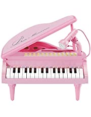 31 Keys Little Pink Piano for Girls with Microphone Electronic Organ Music Keyboard for Kids by Baoli