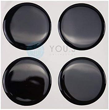 4 X Nabenkappen Silikon Aufkleber 55 0 Mm Schwarz Emblem Selbstklebend Auto