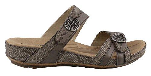 Romika Women's Fidschi 22 Flat Sandal, Taupe, 36 M EU (5-5.5 US) by Romika