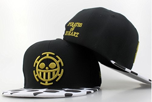 Amarly Anime One Piece Cosplay Canvas Snapback Cap Hip Hop Baseball Sports Hat (Type H)