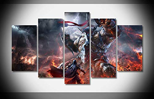 Price comparison product image Mcanvas 5pcs Lords The Fallen Canvas Print Wall Art Painting Home Modern Decoration
