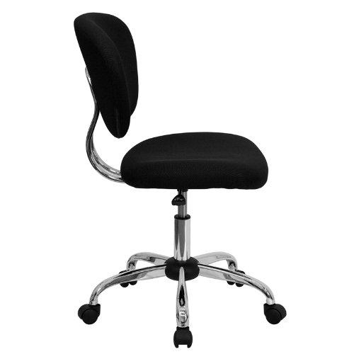 Flash Furniture Mid-Back Black Mesh Swivel Task Chair with Chrome Base