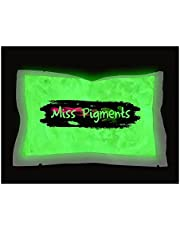 Miss Pigments Glow in The Dark Powder - Glowing Mica Pigment Colorant for Epoxy - Resin - Candle Making - Nail Polish - Non-Toxic